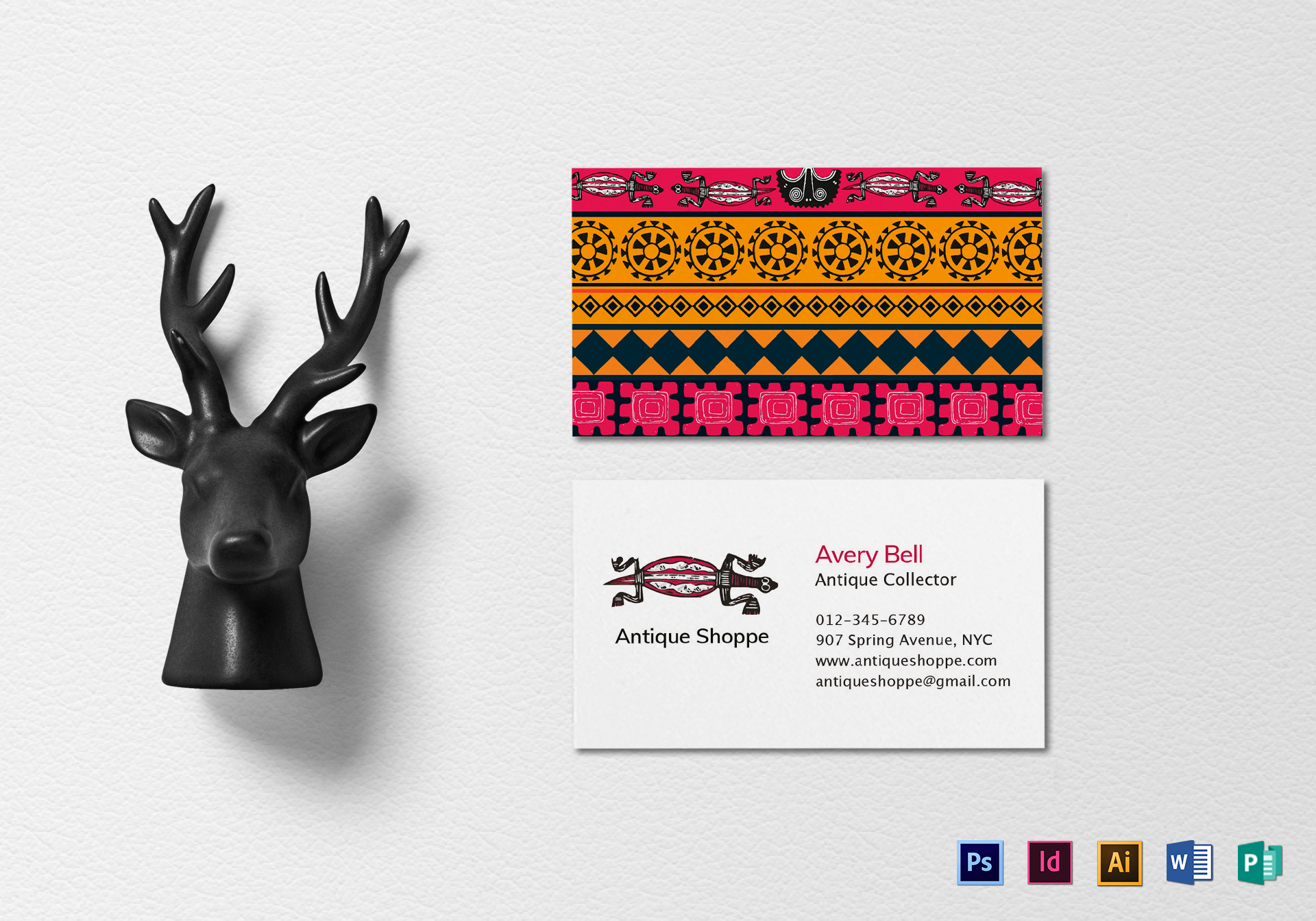 Ethnic Business Card Template