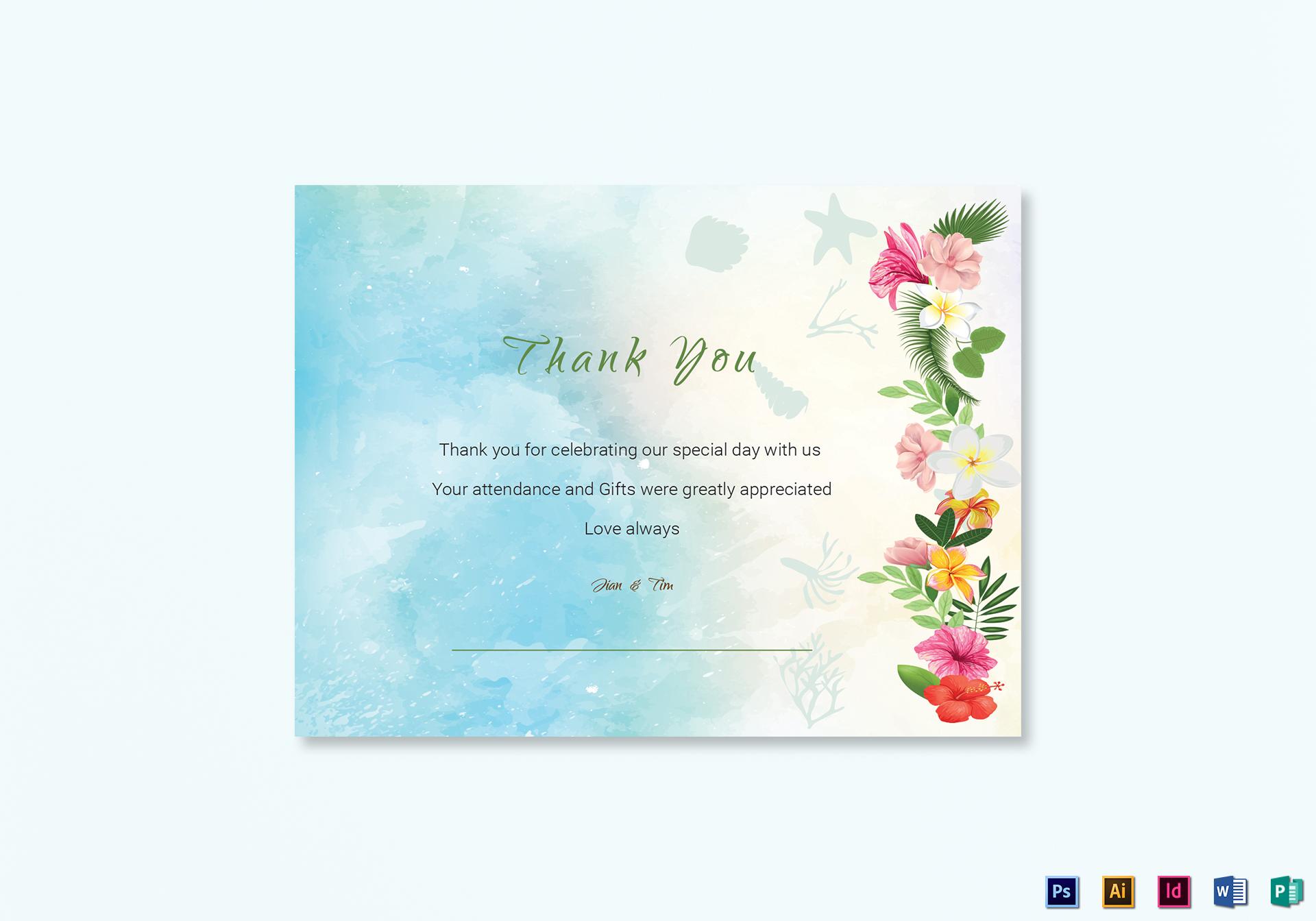 Beach Thank You Card