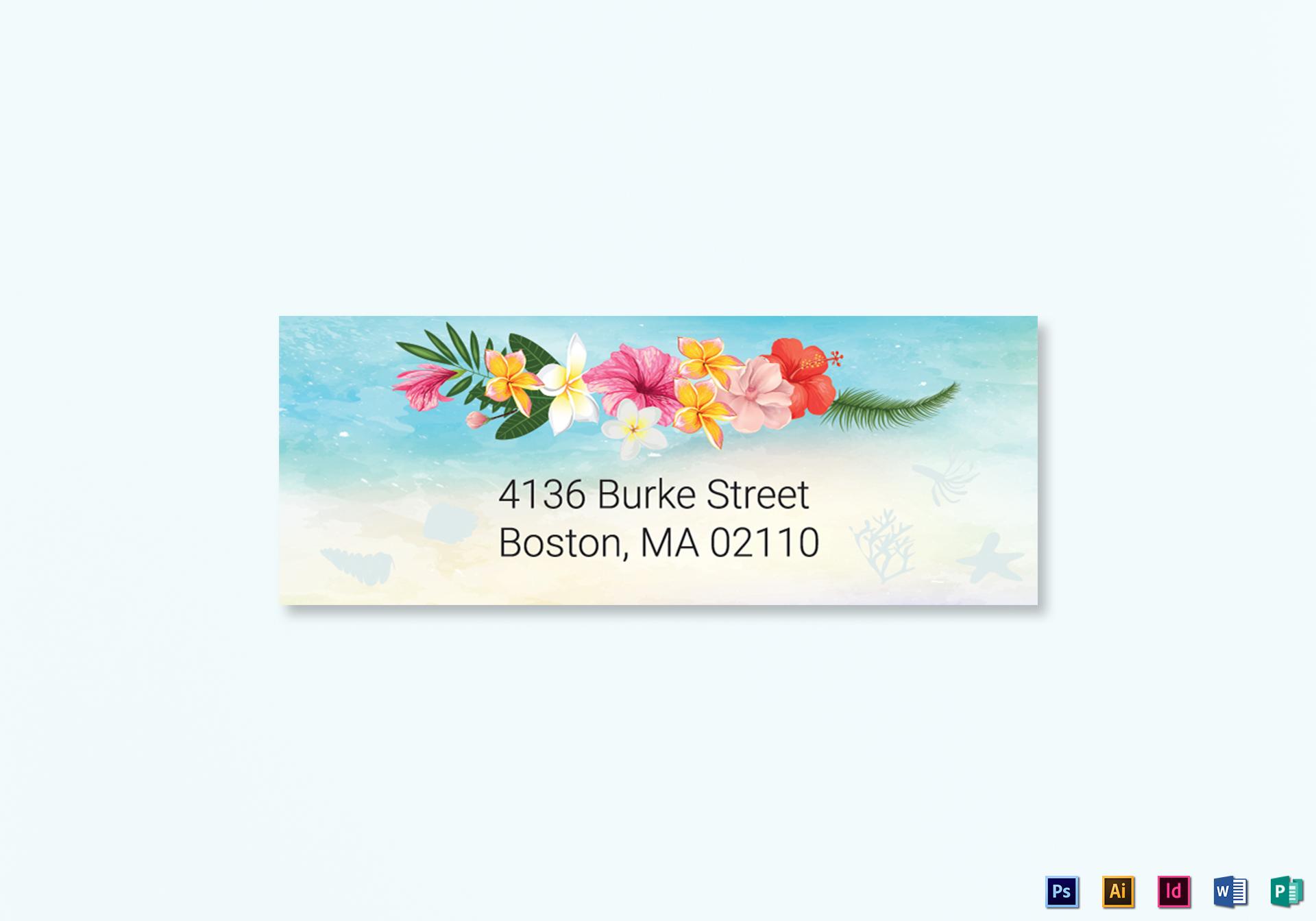 Beach Wedding Address Labels Card