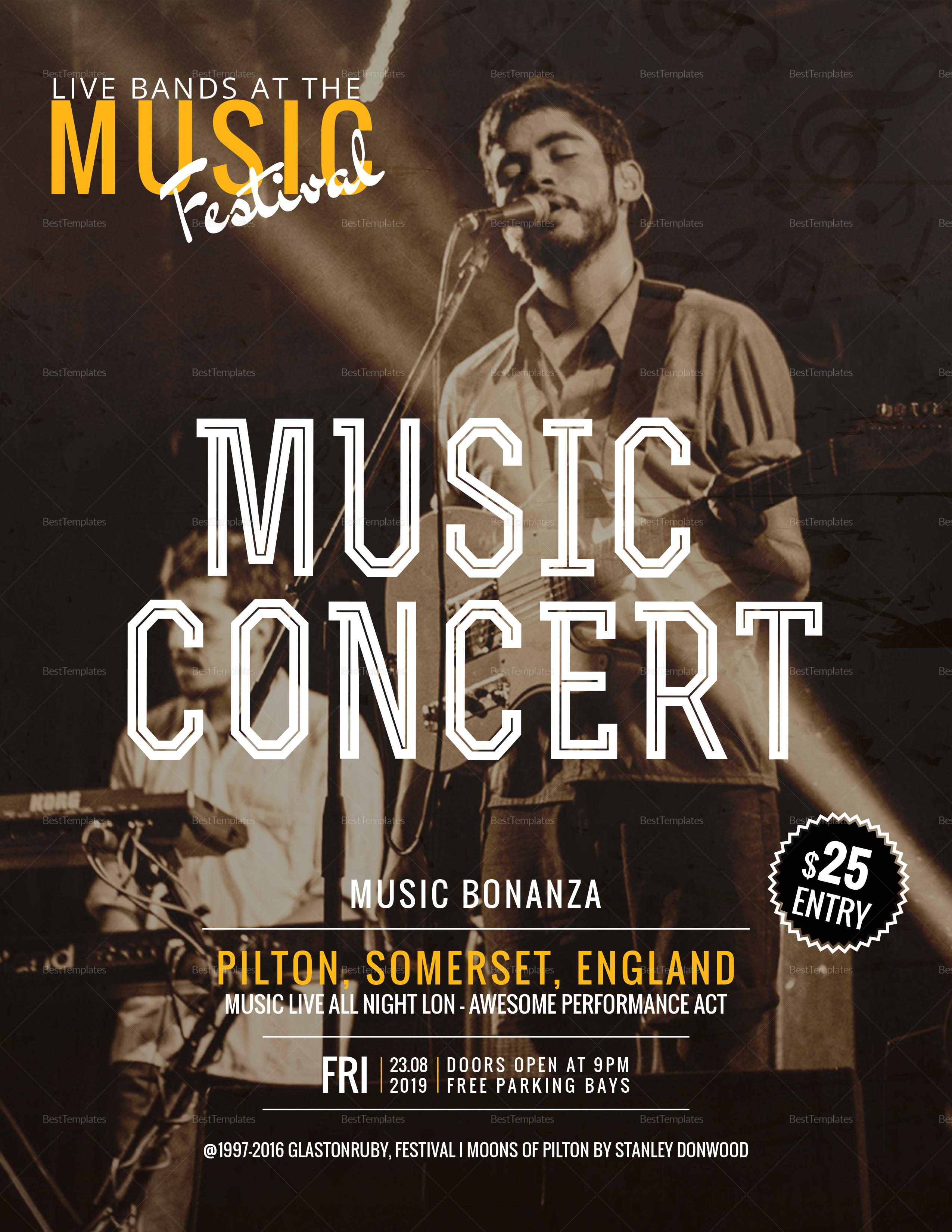 Indie Music Concert Flyer