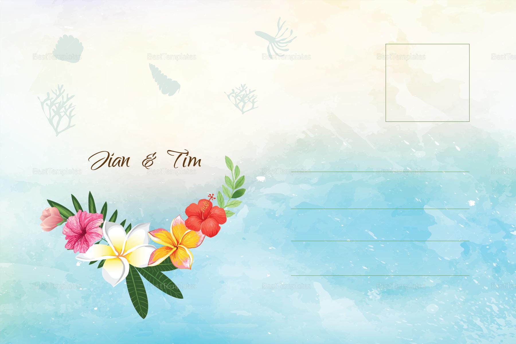Beach Wedding Post Card