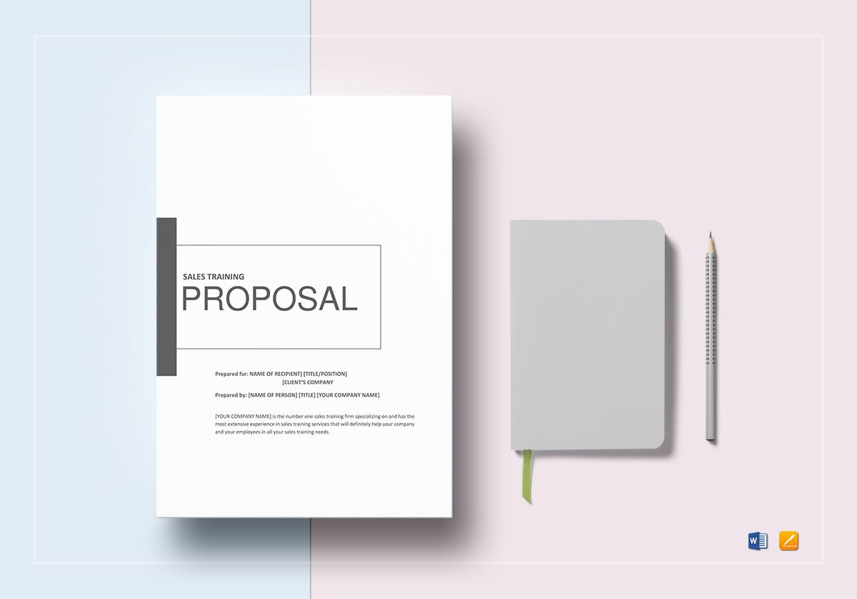 Sales Training Proposal Template  Product Sales Proposal Template