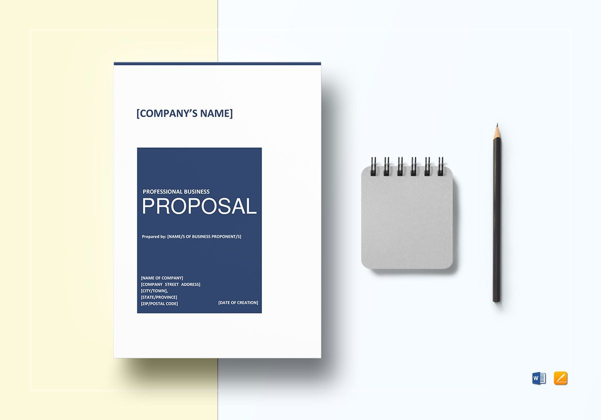 Professional business proposal template in word google docs apple professional business proposal template accmission Gallery