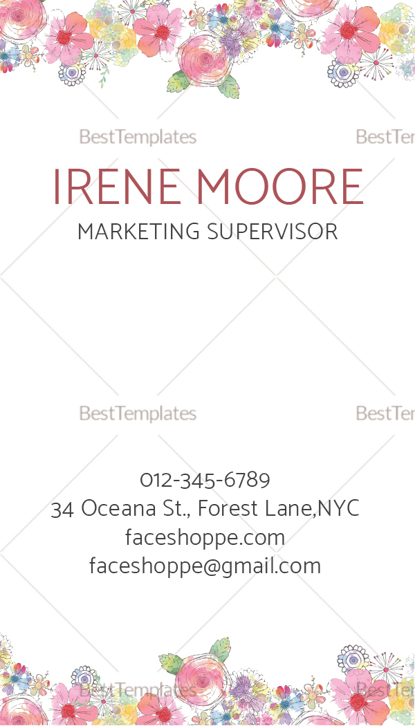 Natural Corporate Business Card