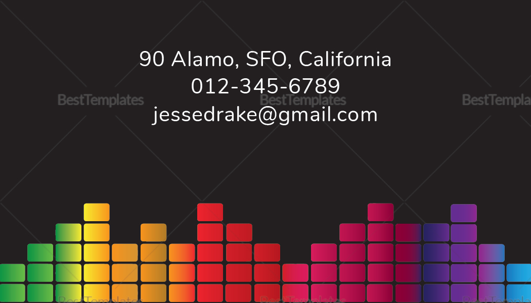 Music Producer and DJ Business Card