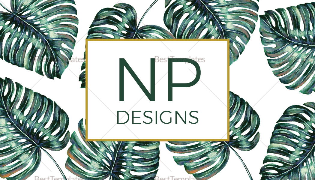 Sample Monstera Business Card