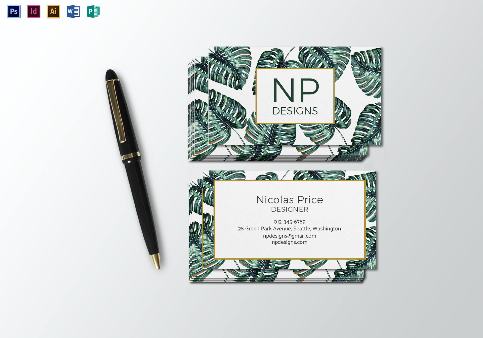 Monstera Business Card Template