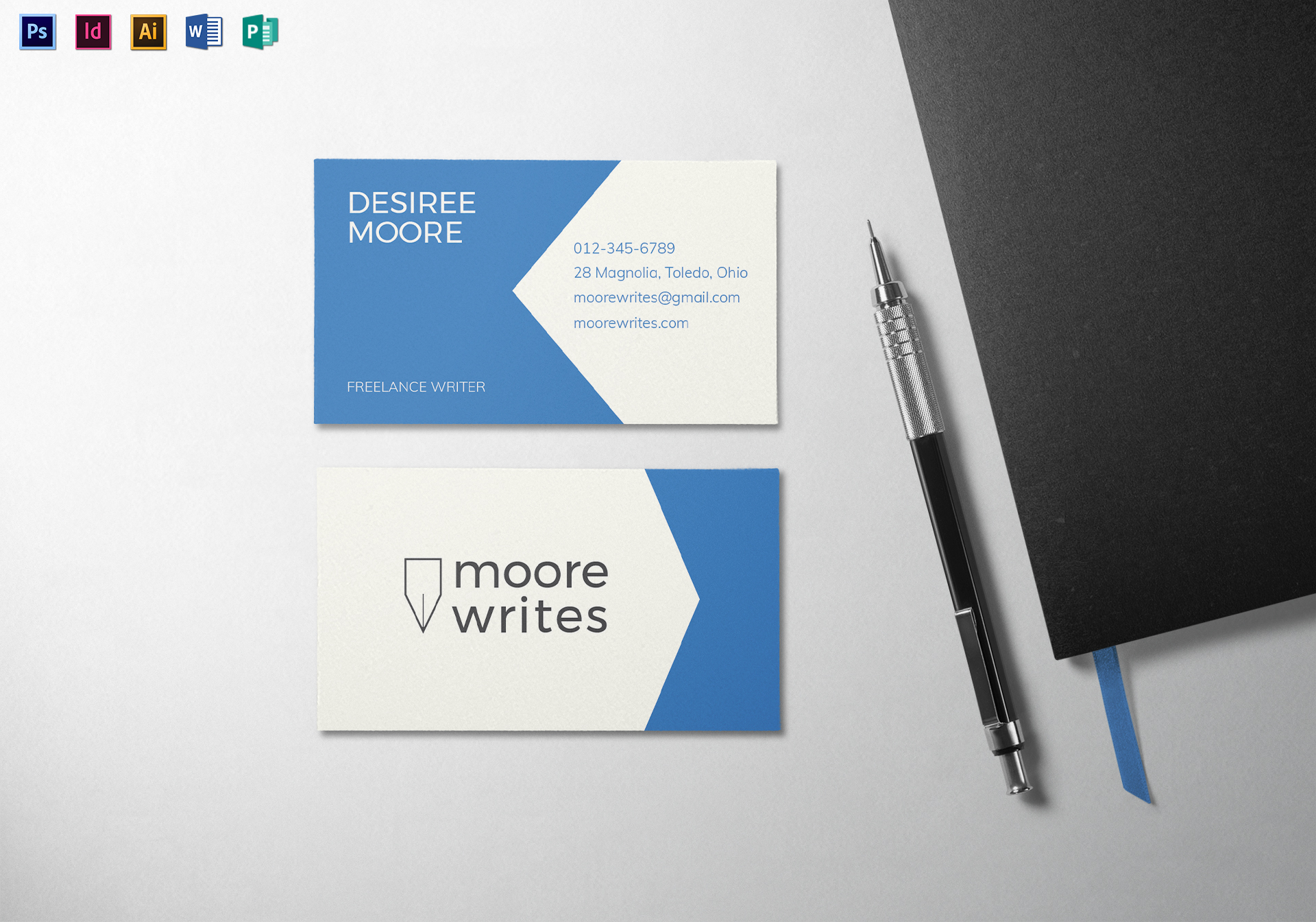 Modern minimal business card template in psd word publisher modern minimal business card modern minimal business card template accmission Images