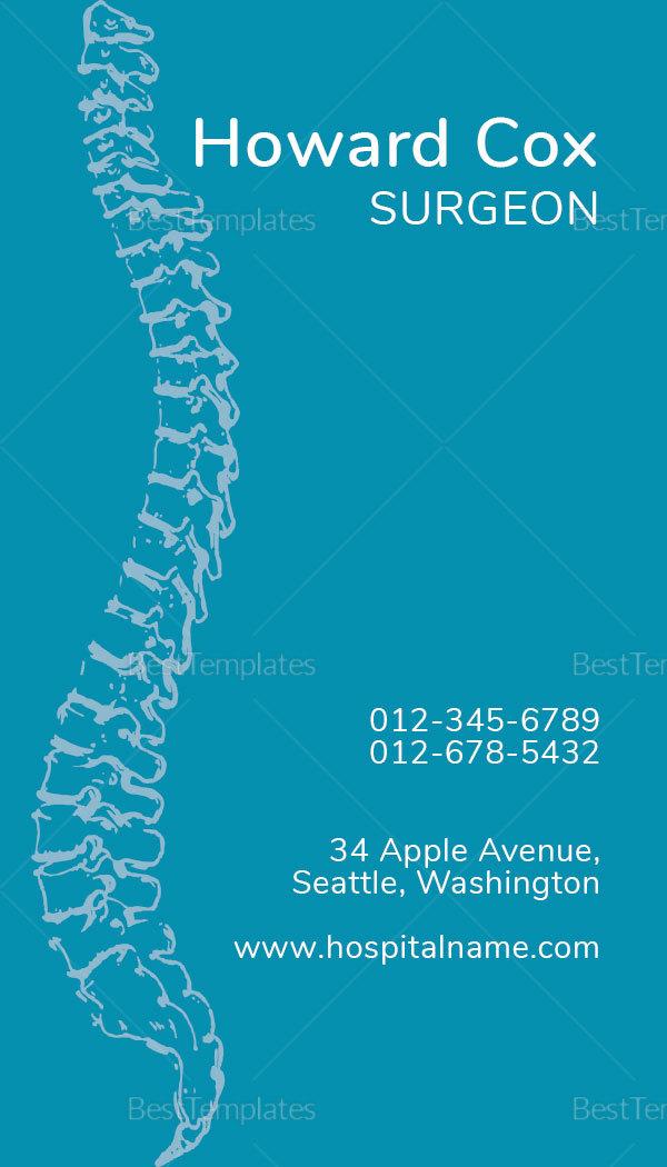 Medical Orthopedic Business Card