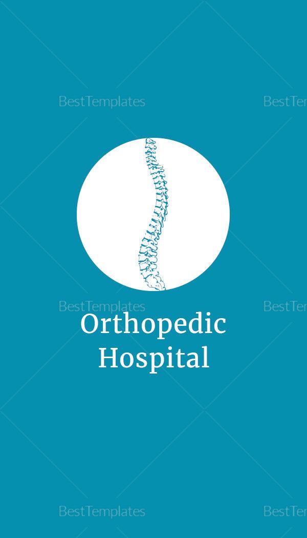Medical Orthopedic Business Card Template