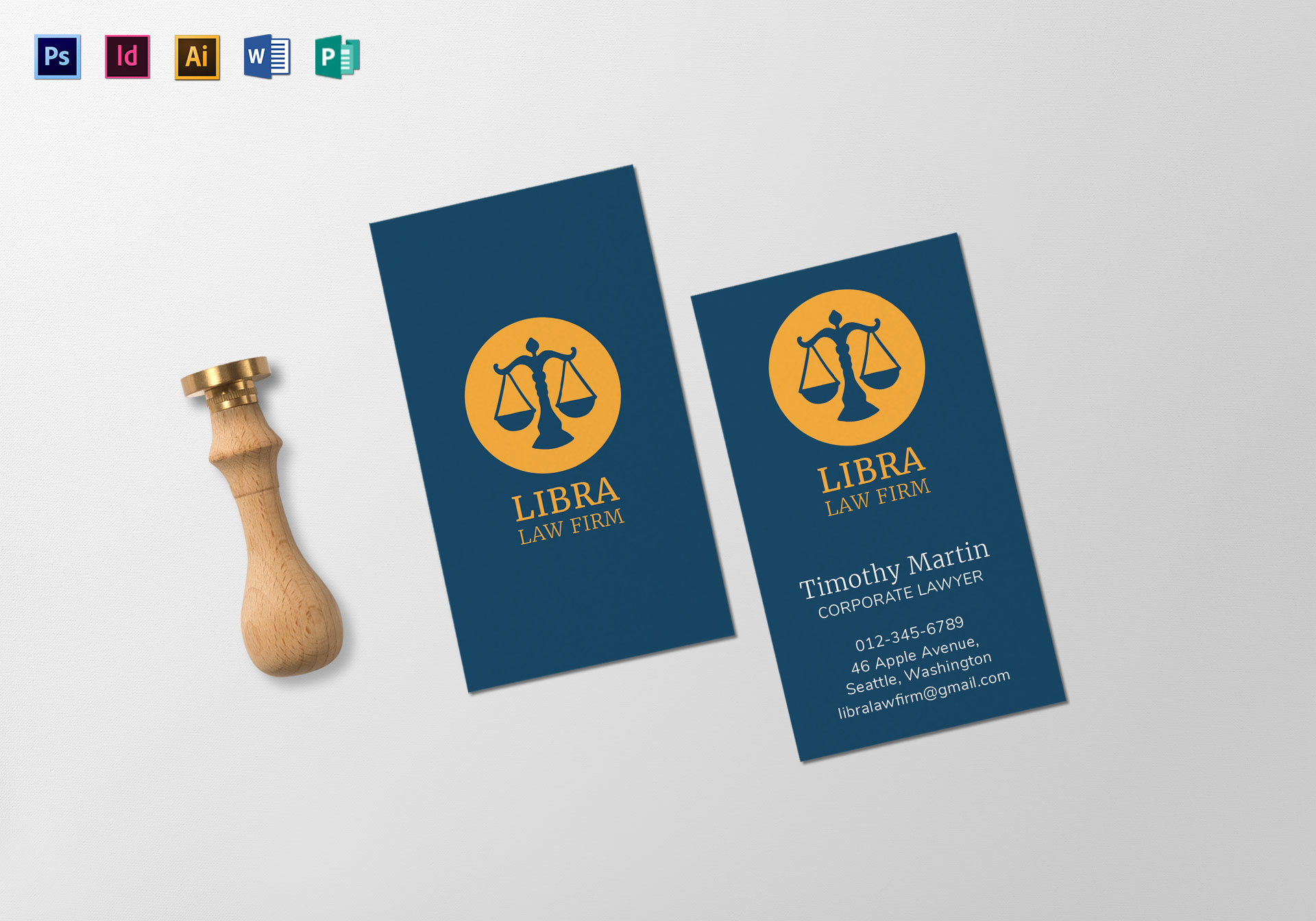 Law firm business card template in psd word publisher illustrator law firm business card template reheart