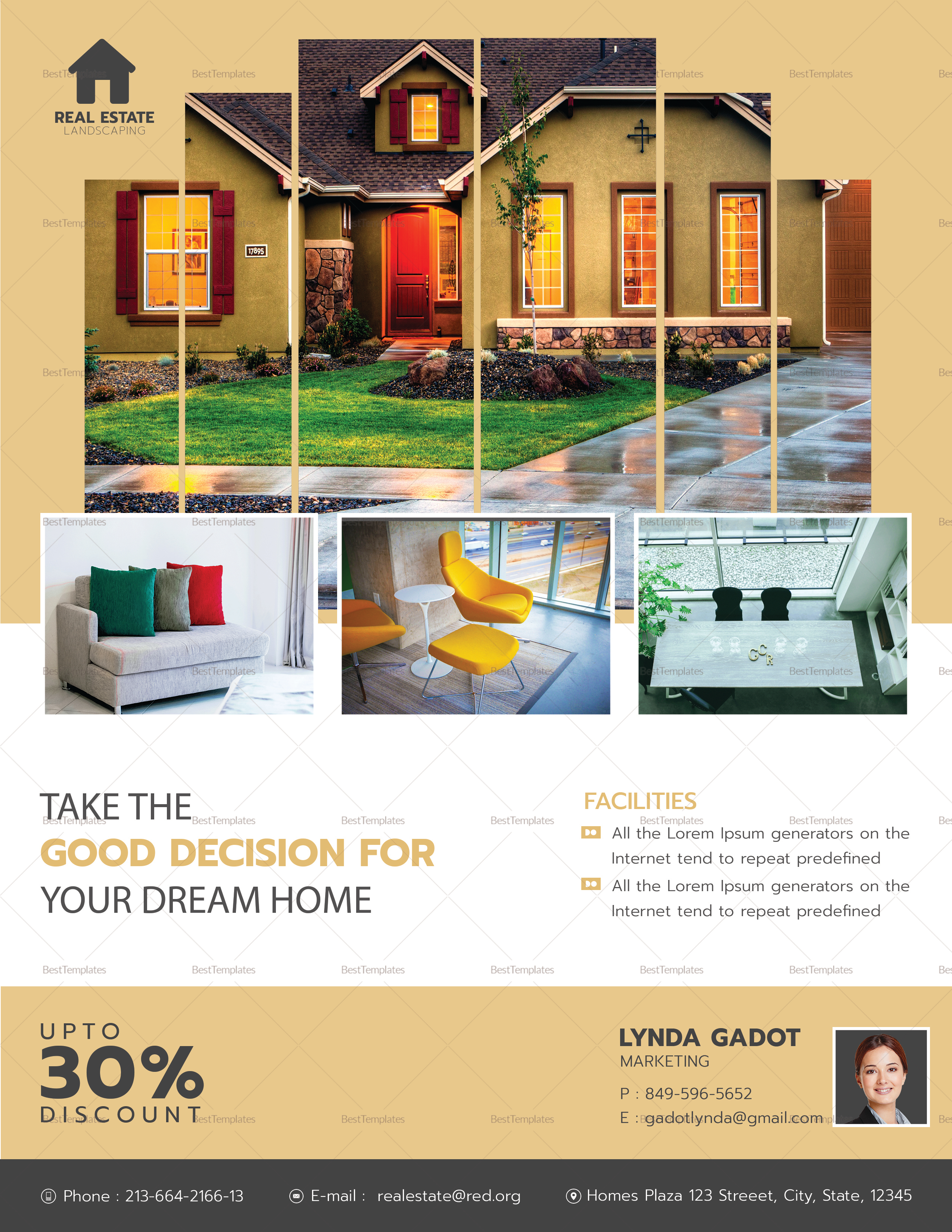 Luxury Real Estate Flyer Design