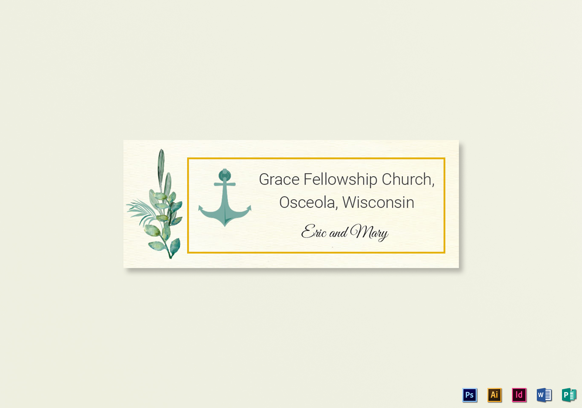 Nautical wedding address labels card template in psd word for Wedding mailing labels templates