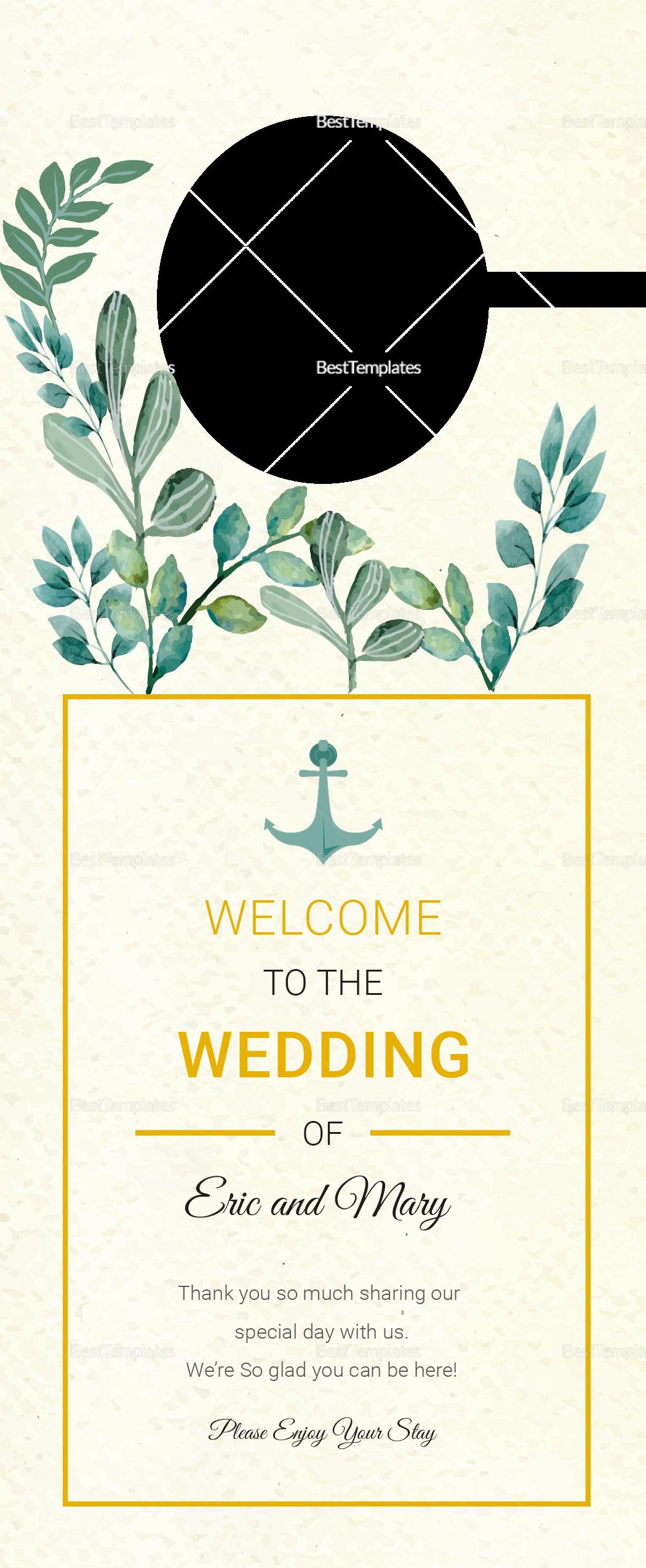 Nautical Wedding Door Hanger Template