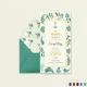 Nautical Wedding Invitation Card Template