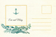 Nautical Wedding Post Card Template