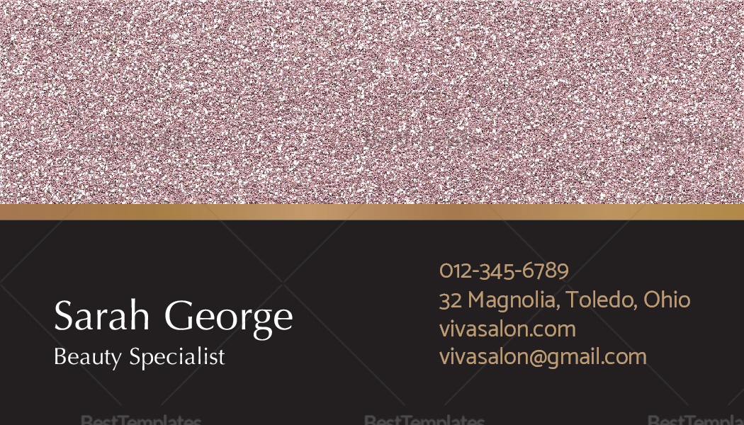 Salon Business Card Template to Edit