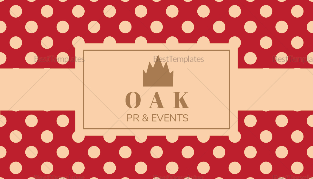 Retro with Polka Dots Business Card