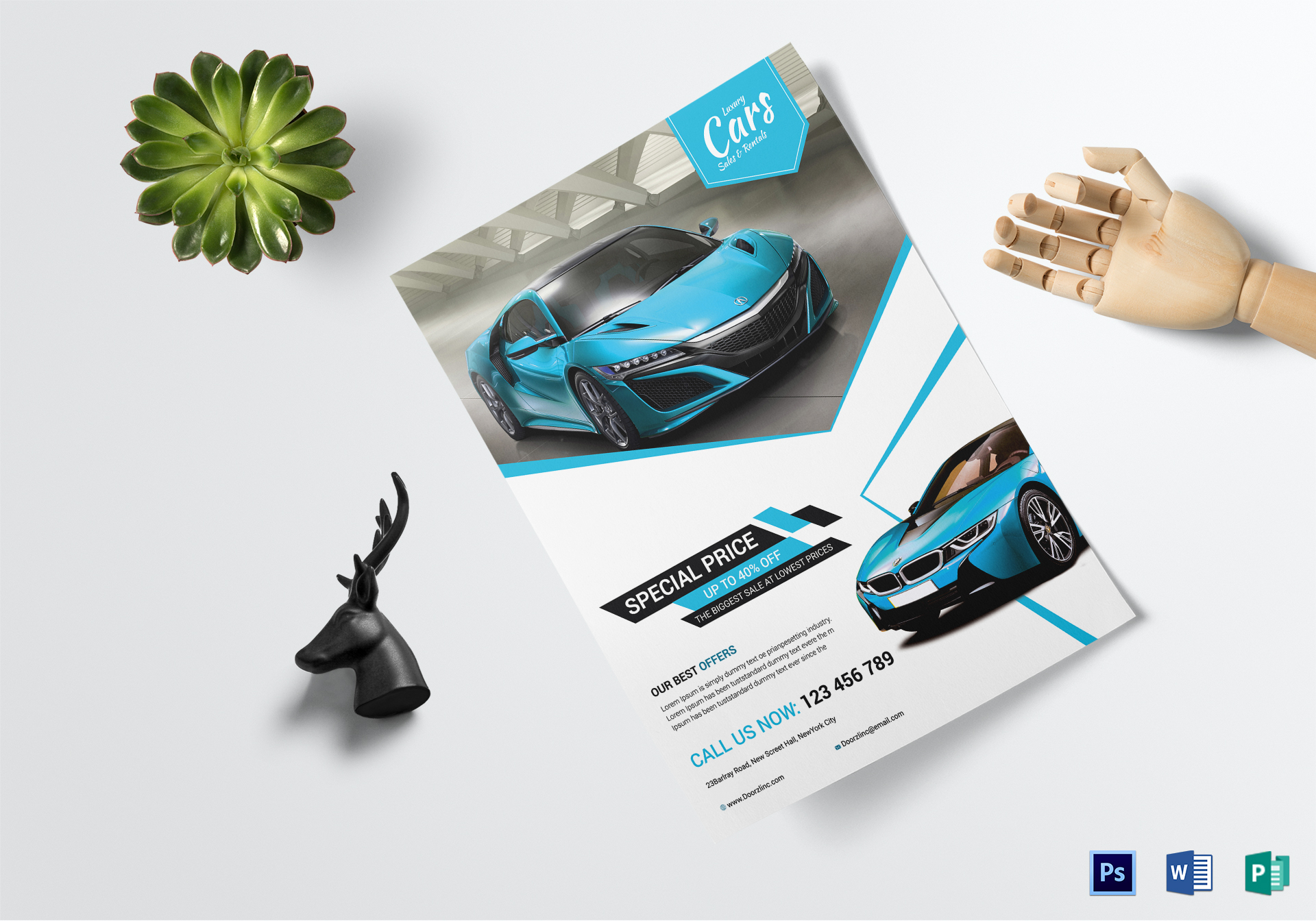 Car Sale Rental Flyer Template