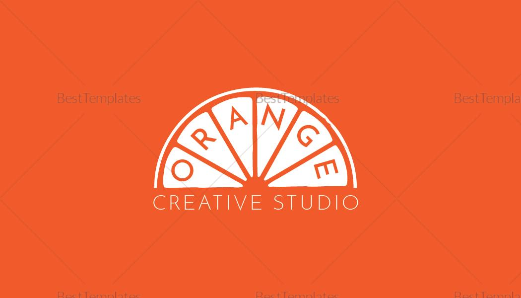 Editable Orange Business Card Template