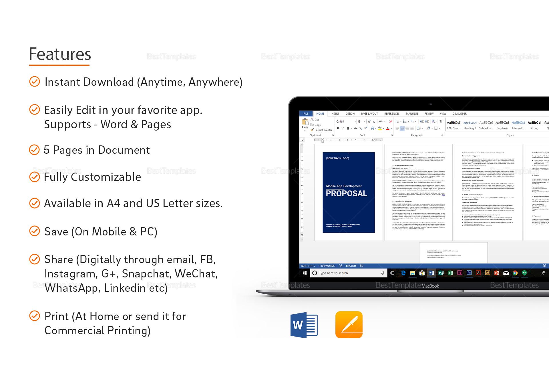 mobile app development proposal template in word google docs apple