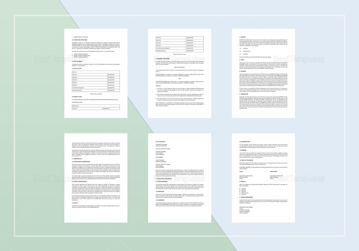 Simple Kreatype Proposal Template