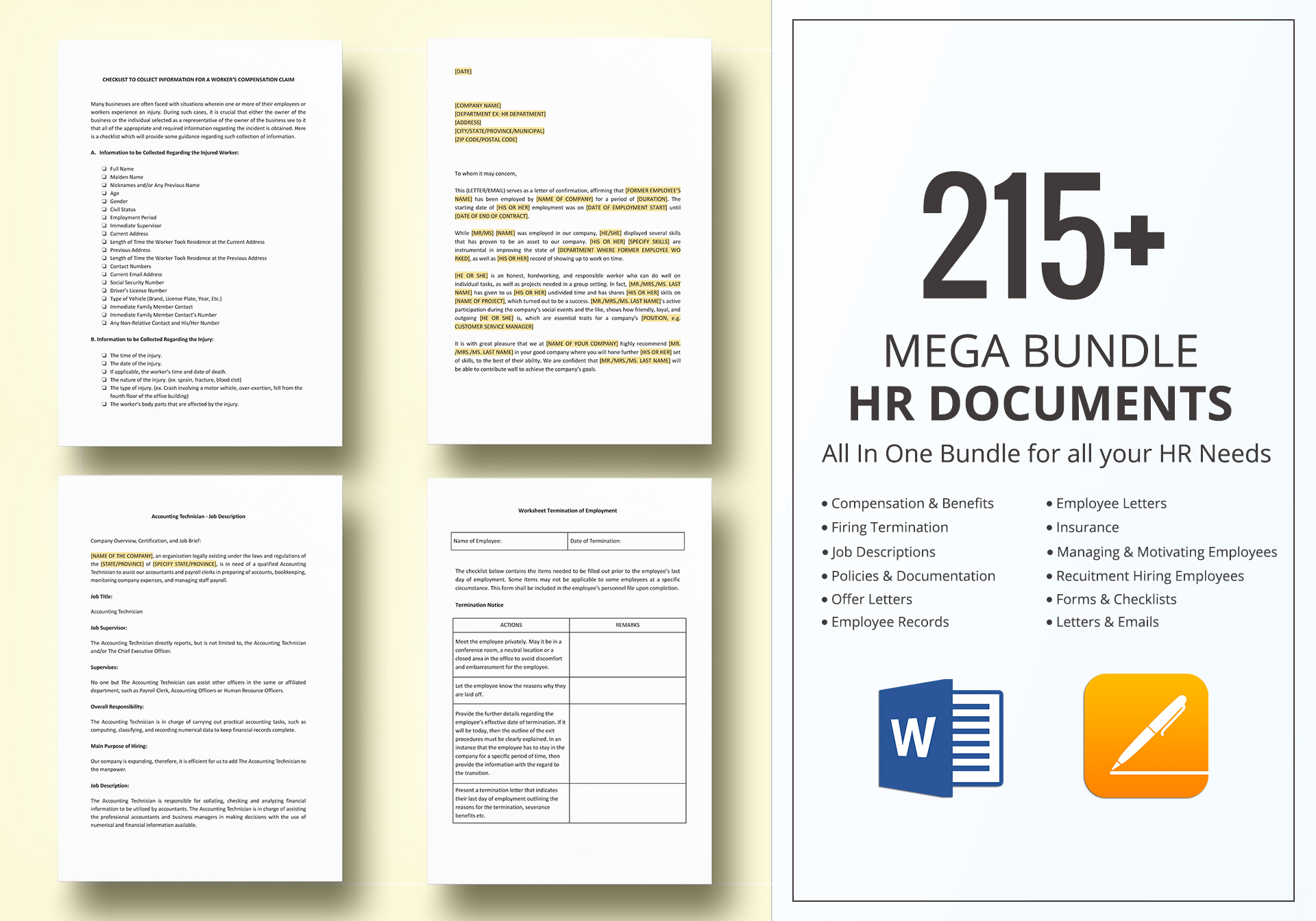 HR Documents Template