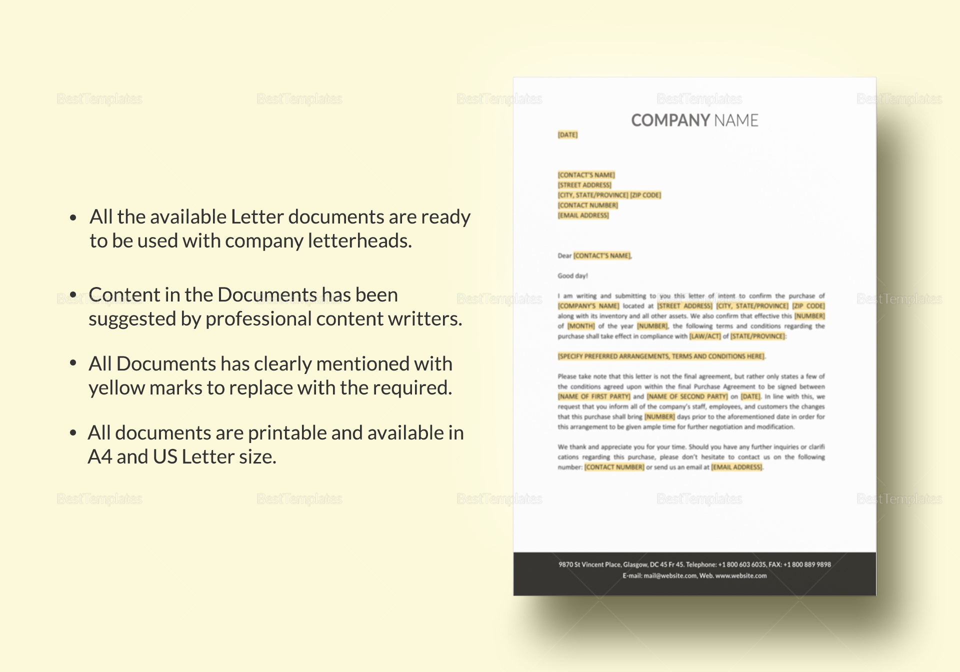 HR Documents Template to Edit