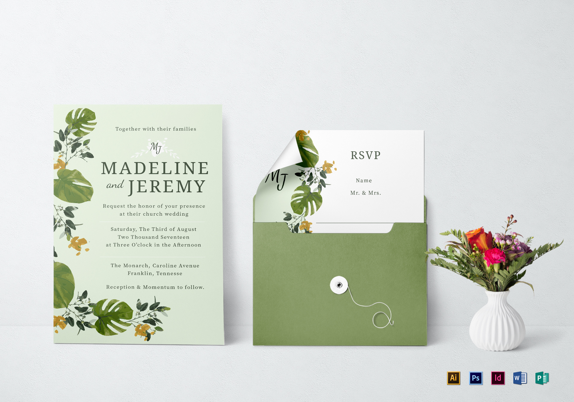 Church wedding invitation design template in psd word publisher church invitation template stopboris Choice Image
