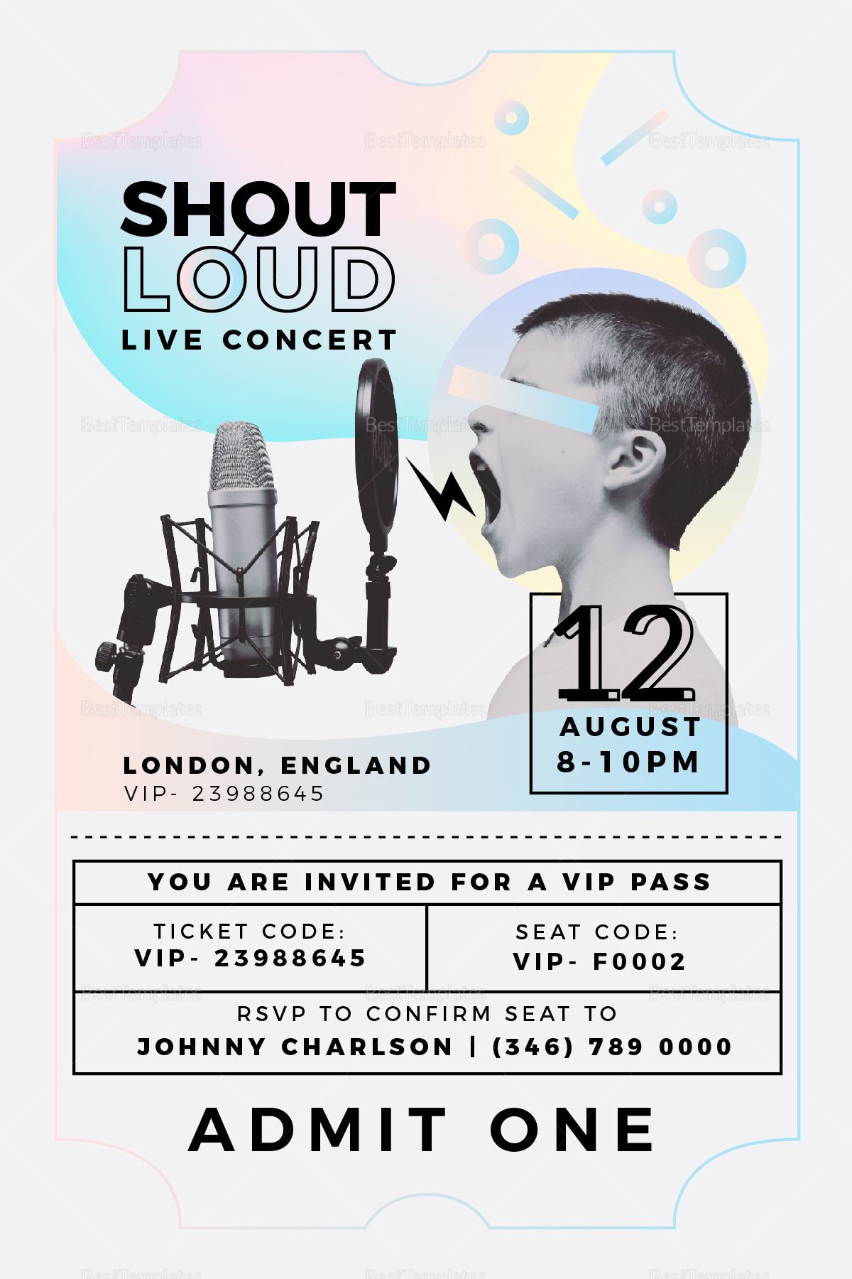 live concert invitation template live concert invitation template