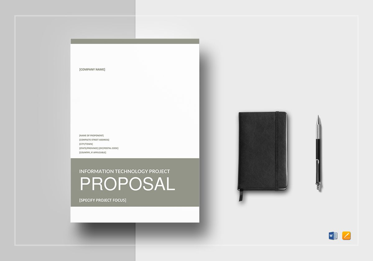IT Project Proposal Template in Word, Google Docs, Apple Pages