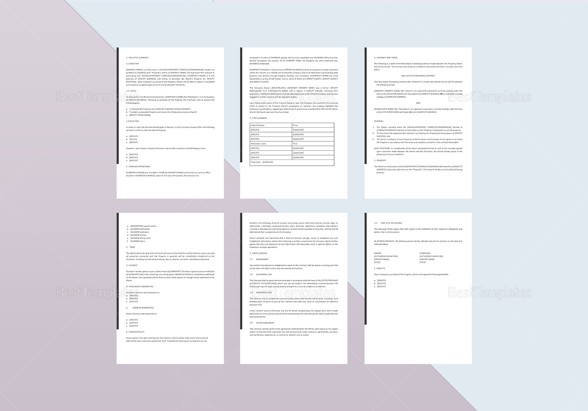 Real Estate Investment Proposal Template In Word Google Docs Apple