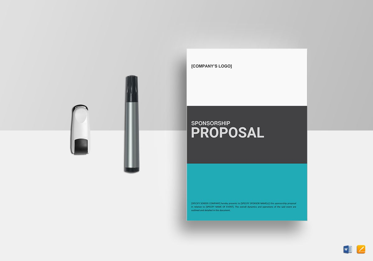 Sponsorship Proposal Template In Word Google Docs Apple Pages