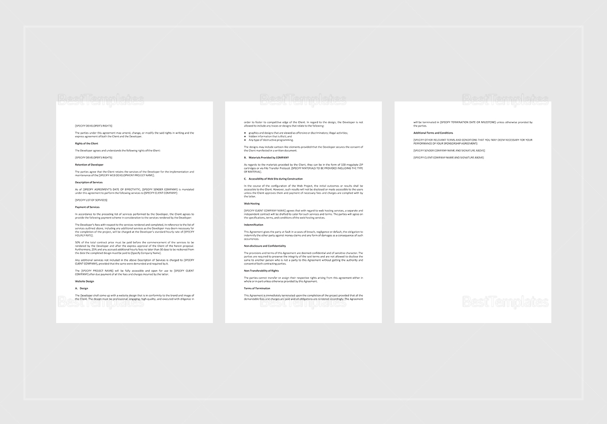 Editable Website Project Proposal Template