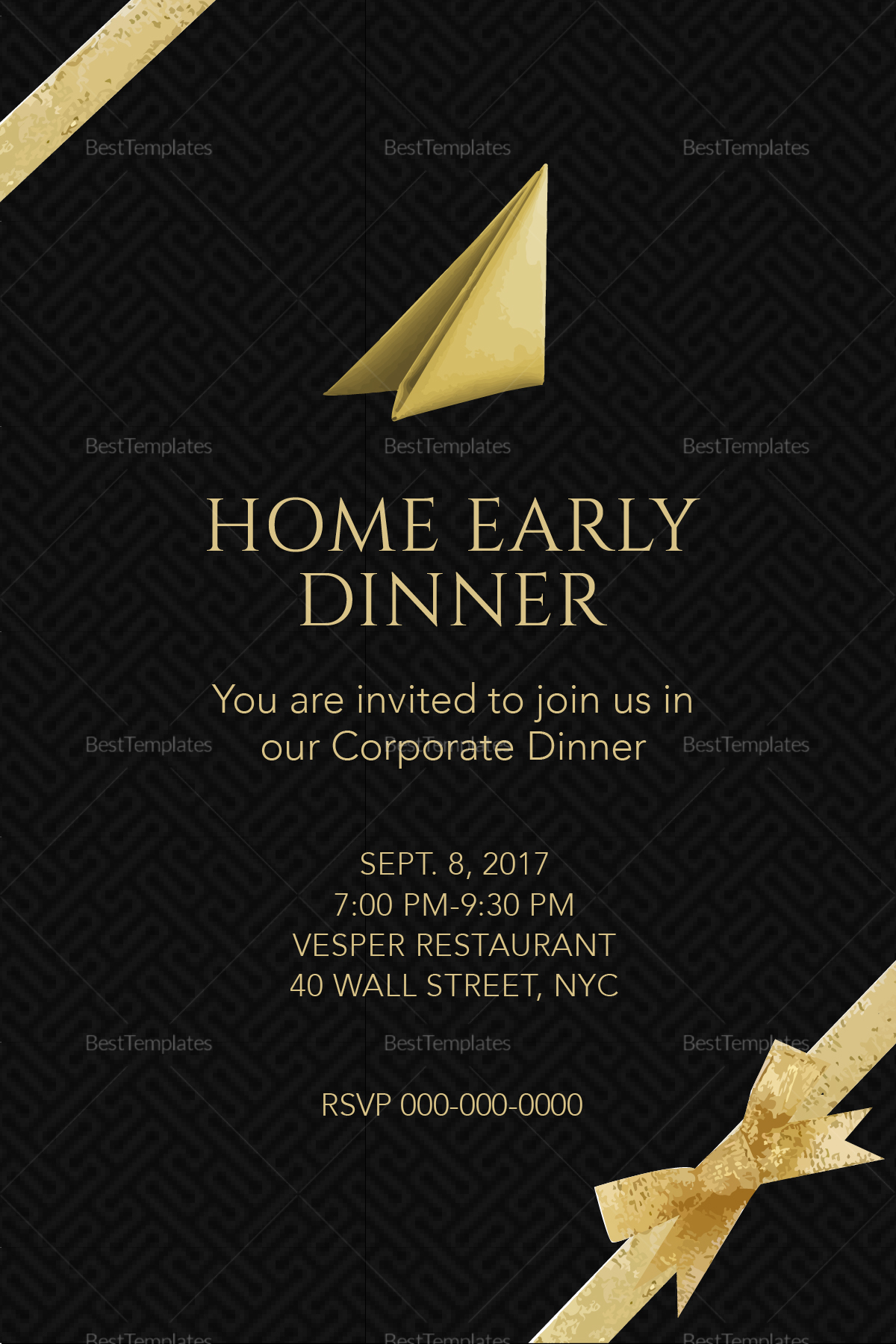 corporate dinner invitation template 28 images business dinner invitation template resume. Black Bedroom Furniture Sets. Home Design Ideas