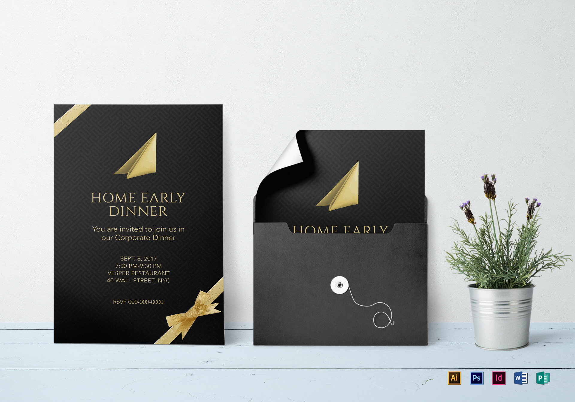 Corporate Dinner Invitation Template