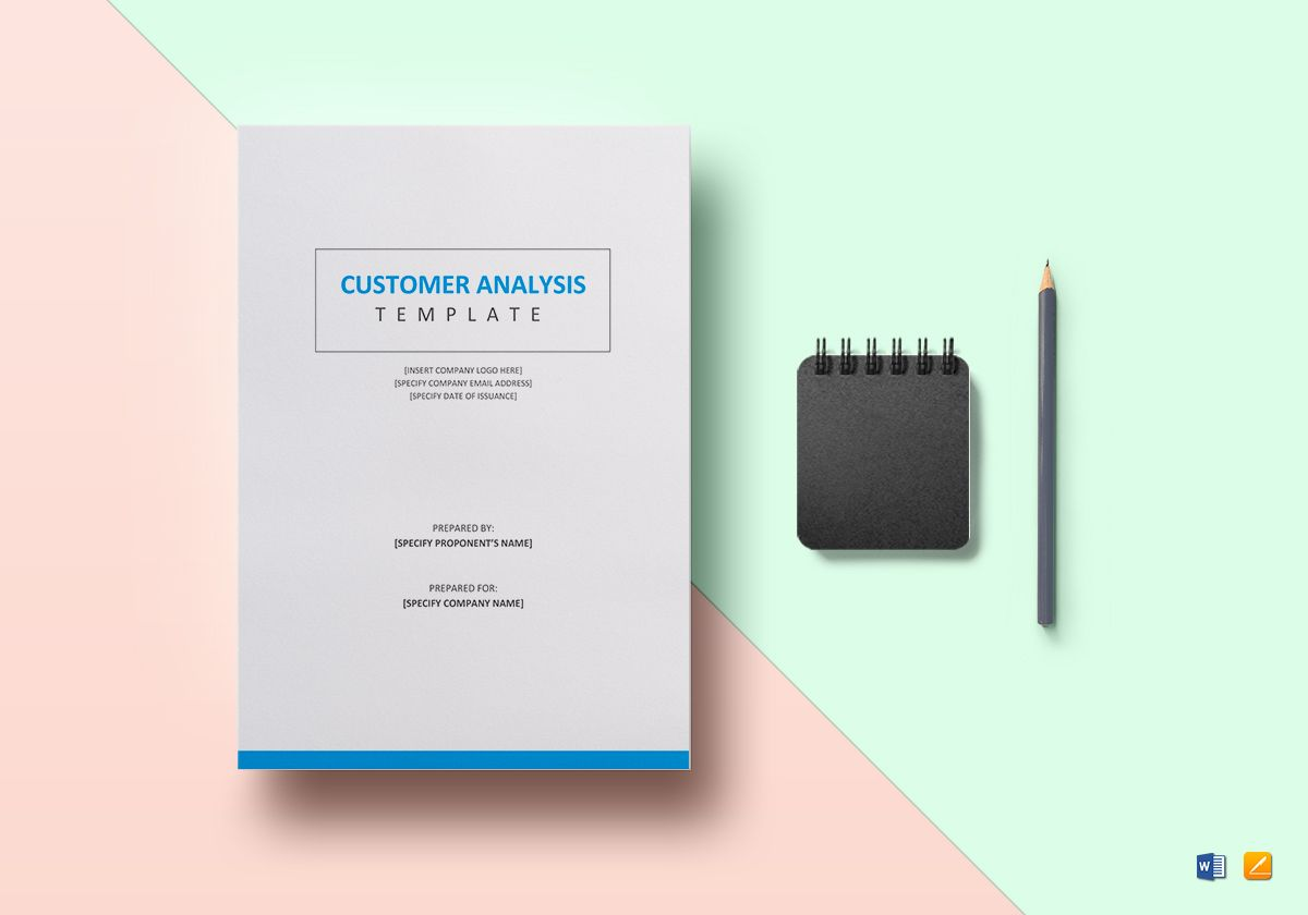 Customer analysis template in word google docs apple pages for Client analysis template