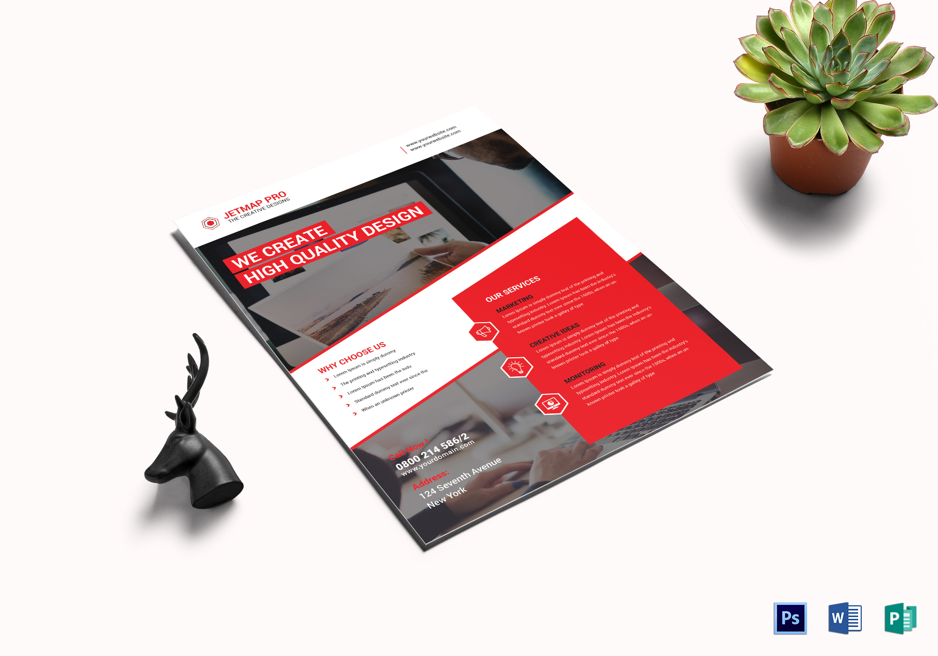 executive corporate flyer design template in psd word publisher