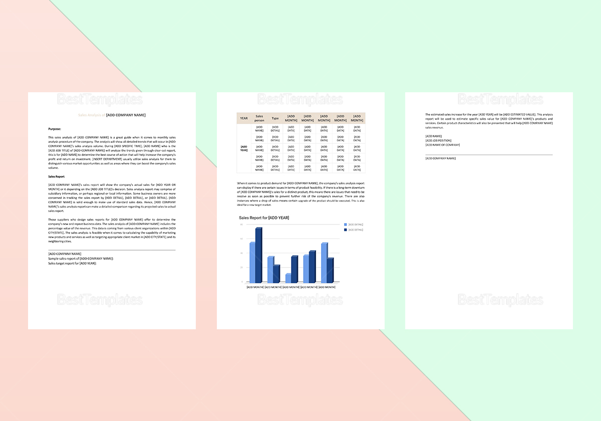 Sample Sales Analysis Template