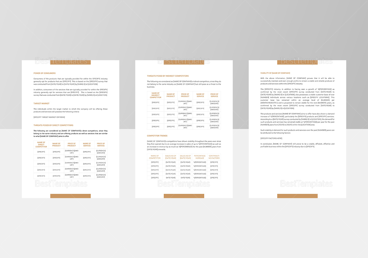 Industry Analysis Template to Edit