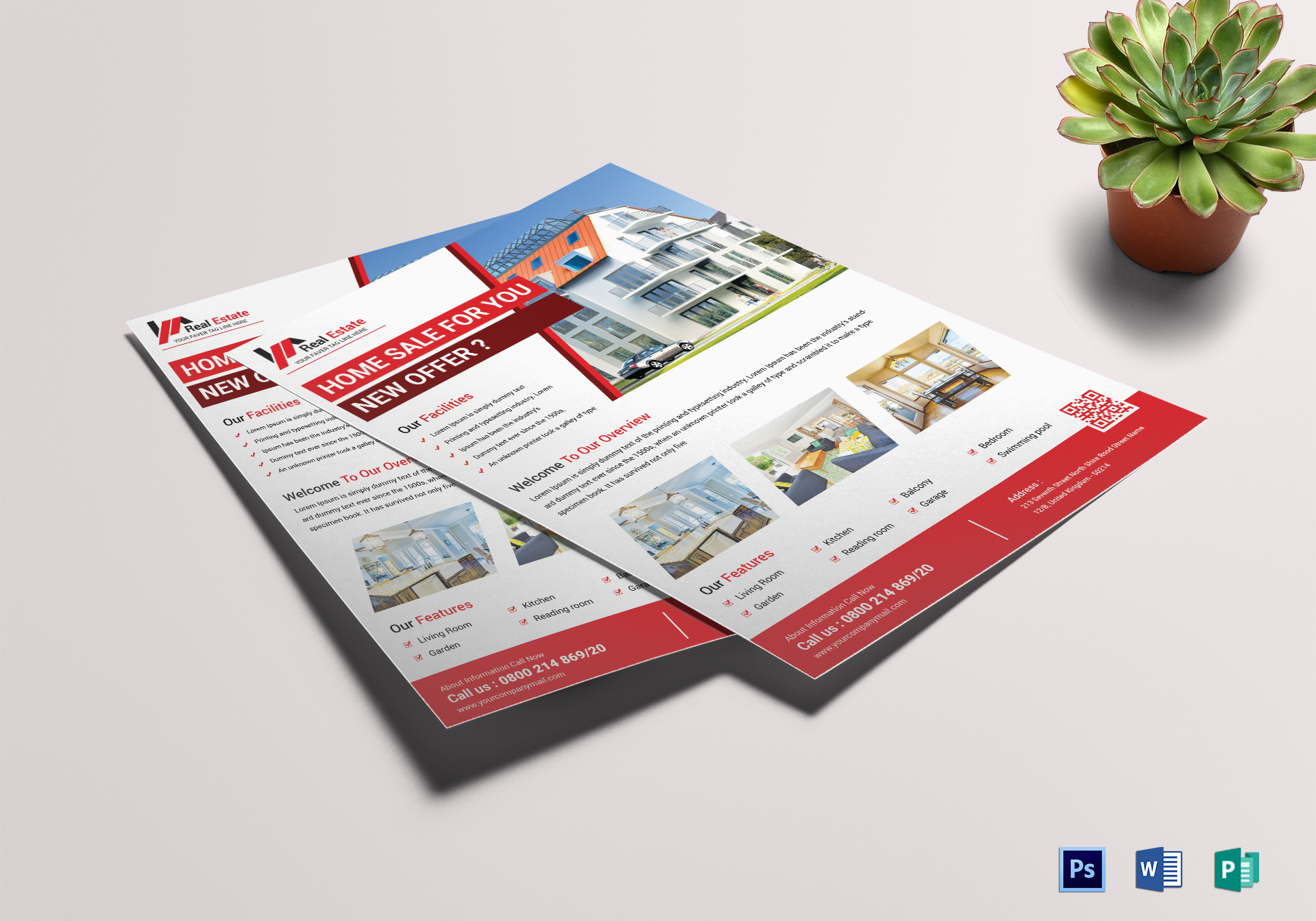 classic real estate flyer design template in word psd publisher