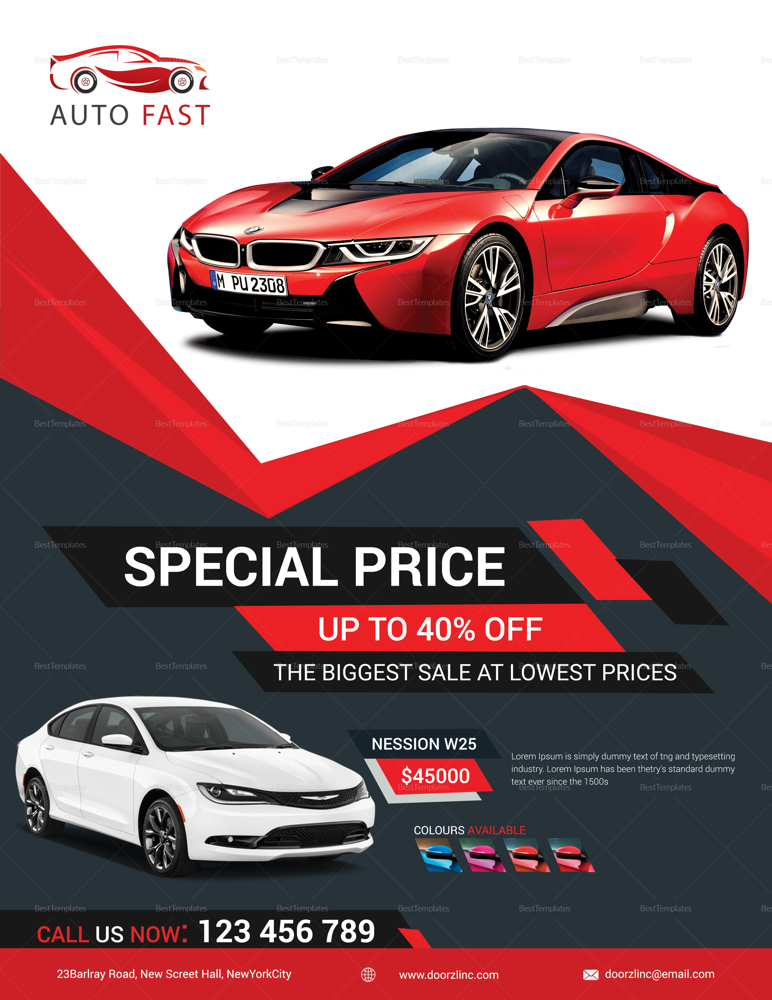 Elegant Car Sales Flyer Design Template