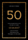 50th Birthday Invitation Card Template