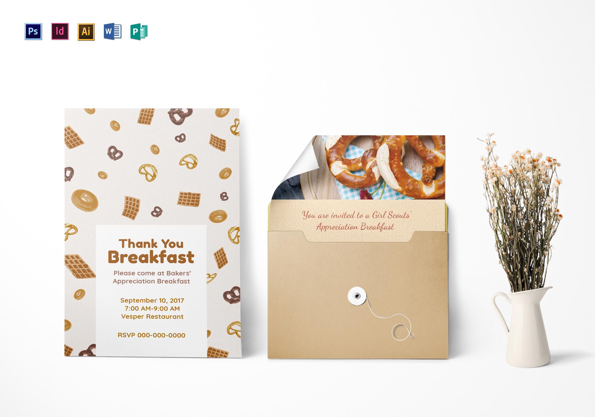 Appreciation Breakfast Invitation