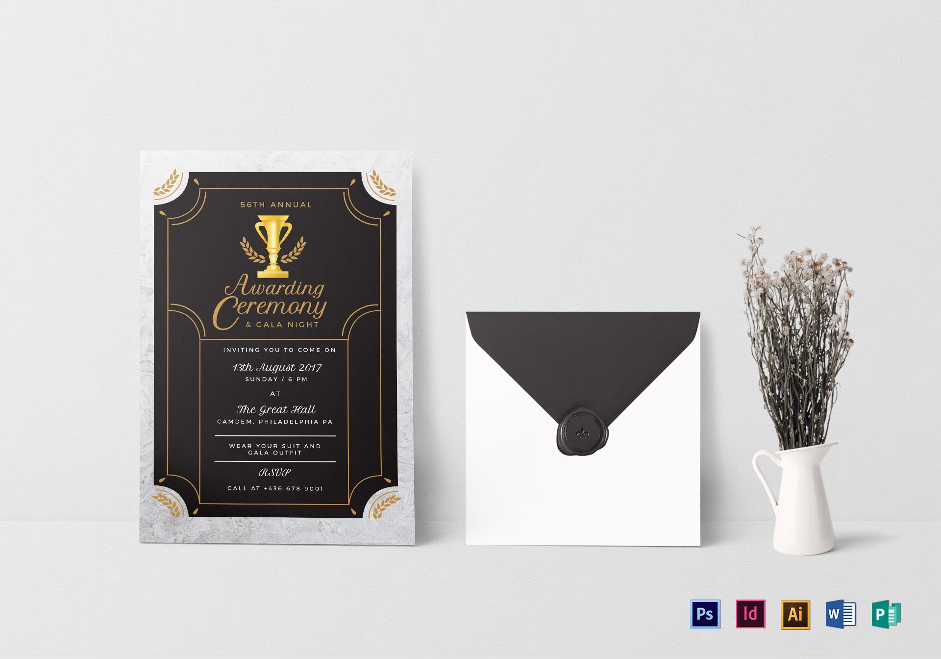 Annual Award Ceremony Invitation Template