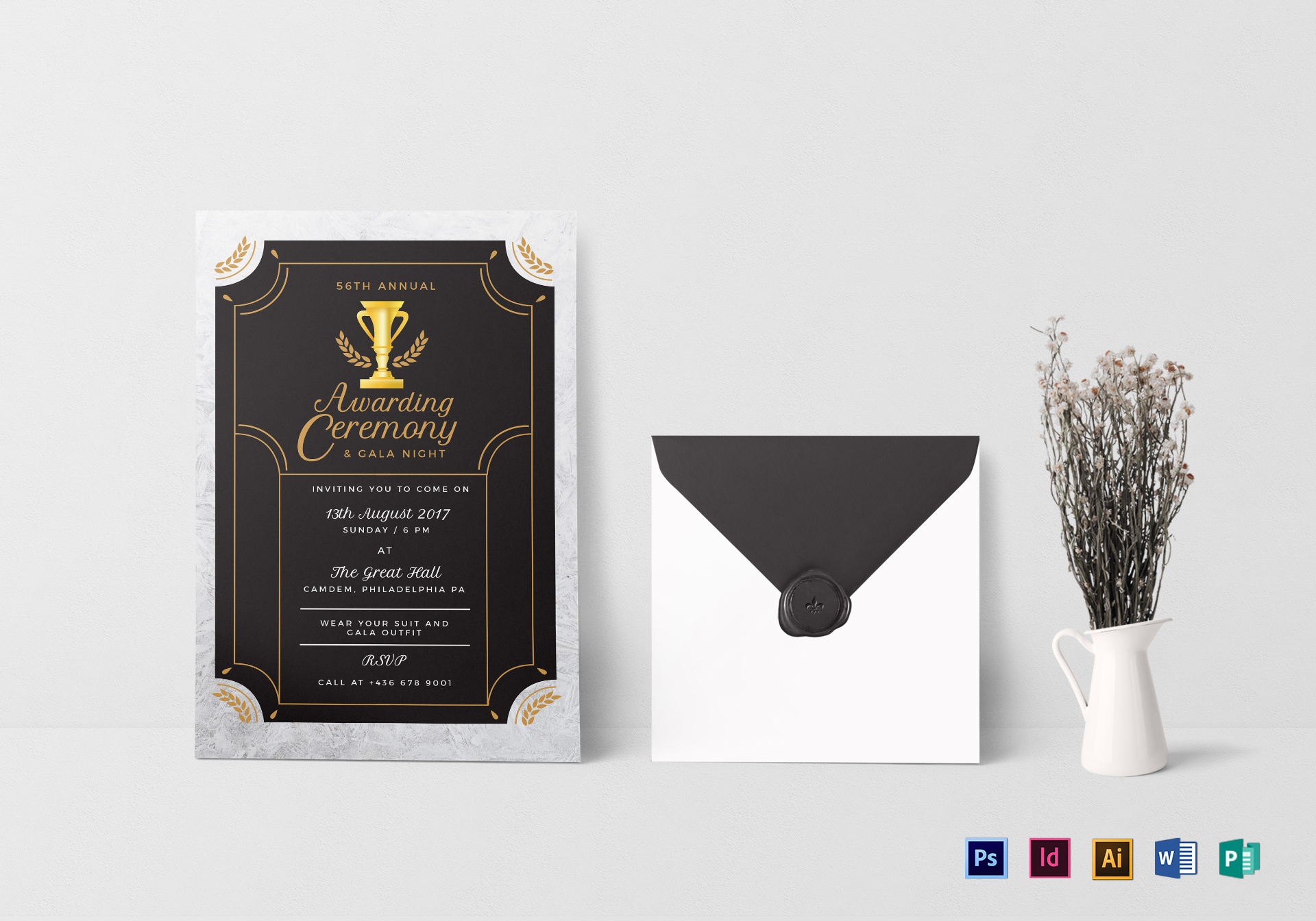 Annual award ceremony invitation design template in psd word annual award ceremony invitation template stopboris Image collections