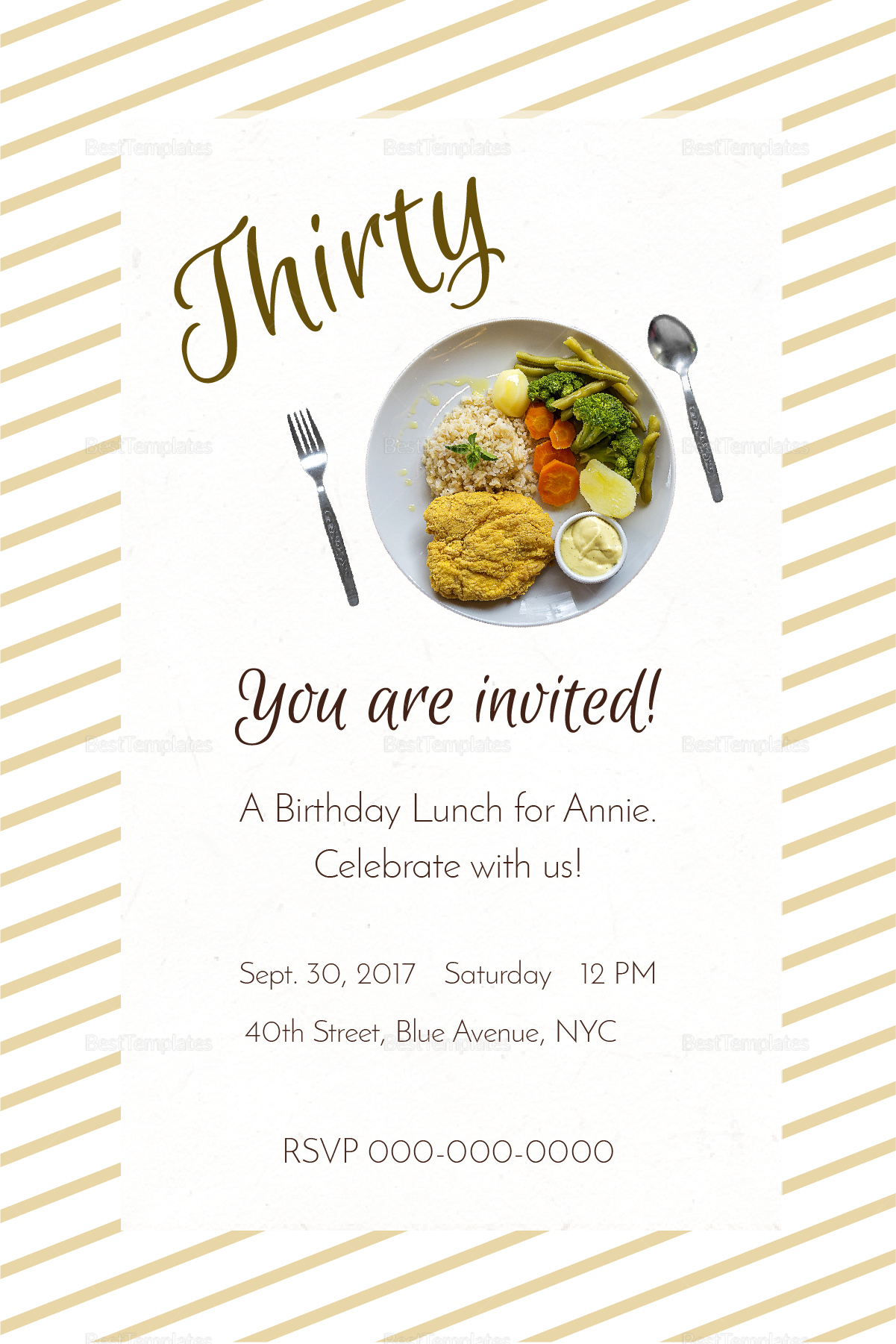 birthday lunch invitation design template in psd word publisher illustrator indesign. Black Bedroom Furniture Sets. Home Design Ideas