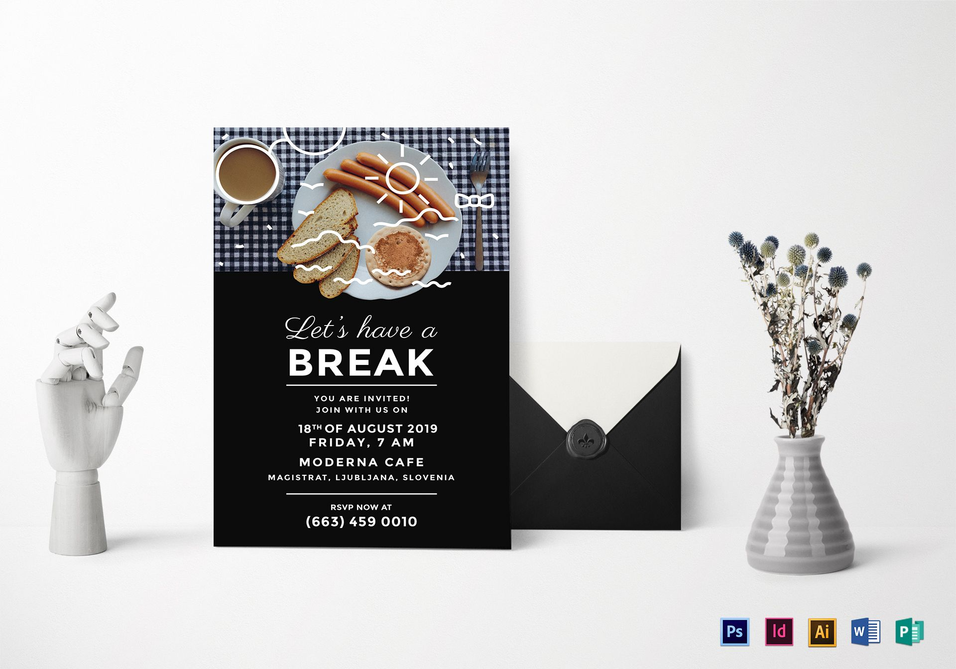 Business Breakfast Invitation Design Template in PSD, Word ...