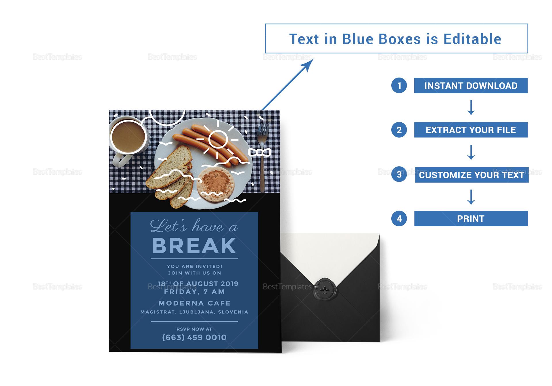 Sample Business Breakfast Invitation Template