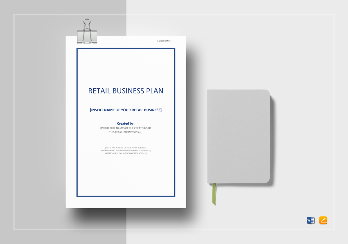 Retail business plan template in word google docs apple pages retail business plan template friedricerecipe Image collections